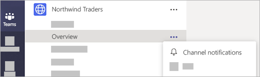 Screenshot showing channel notifications